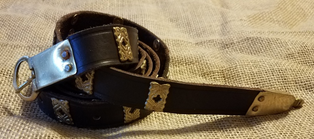 Belt coiled up for the Medieval Reenactment and Living History Resource The Turnip of Terror
