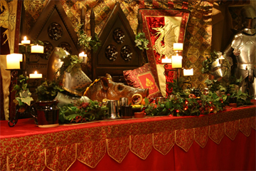 Featured Image of feast table for the Medieval Reenactment and Living History Resource The Turnip of Terror