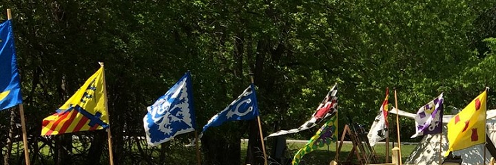 Banners at Deed for the Medieval Reenactment and Living History Resource The Turnip of Terror