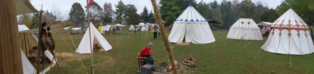 2019 Days of Knights encampment panorama
