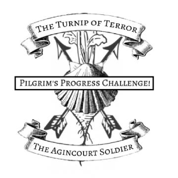 The Pilgrim Progress Challenge Emblem for the Medieval Reenactment and Living History Resource the Turnip of Terror