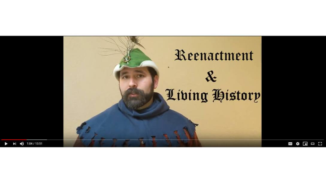 Featured Image for the YoutTube Video What Is A Reenactor Episode post on the medieval reenactment and living history resource the Turnip of Terror