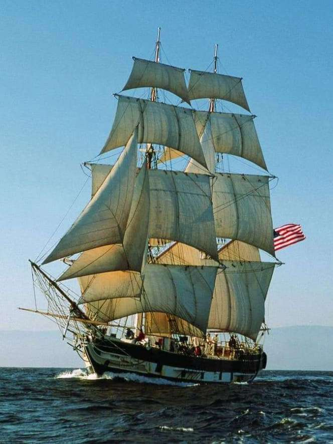 Pilgrim under Full Sail